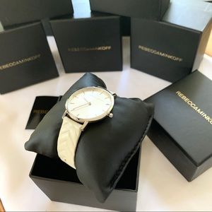 NWT Rebecca Minkoff leather strap watch